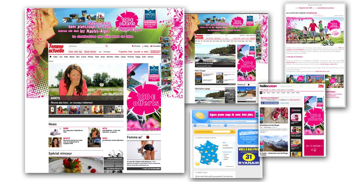 Campagnes display online